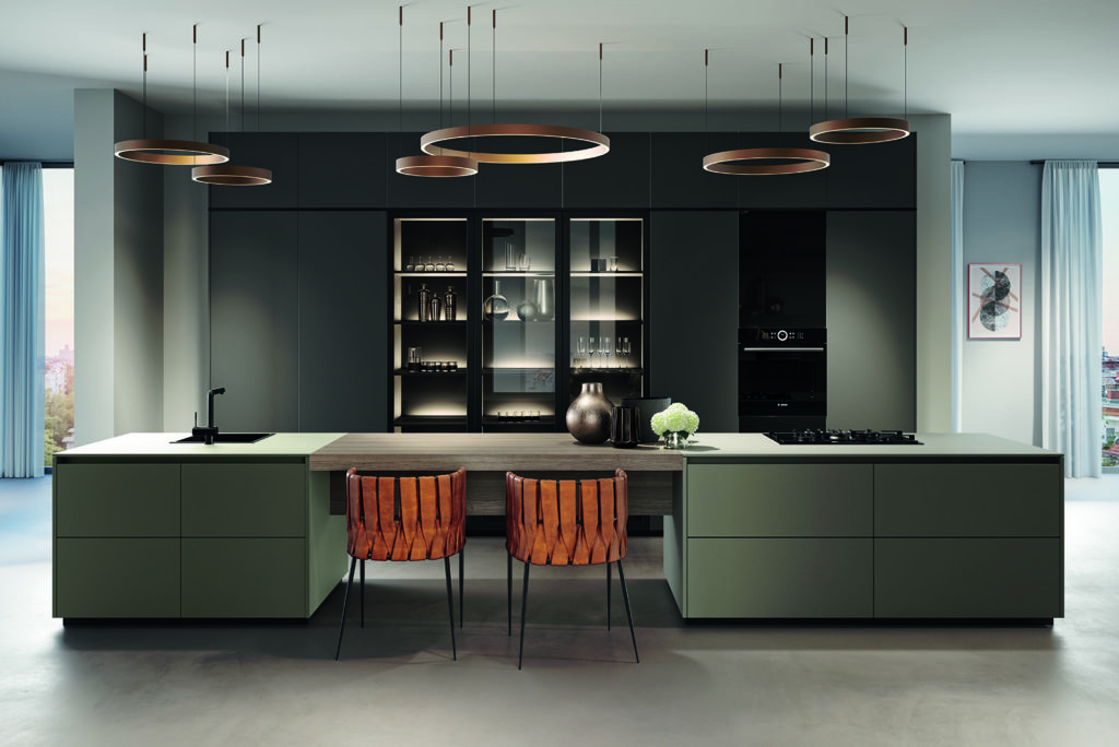 Rotpunkt Matt Lava and Umbria Island Kitchen 2 - Hadley Kitchens, Leamington Spa