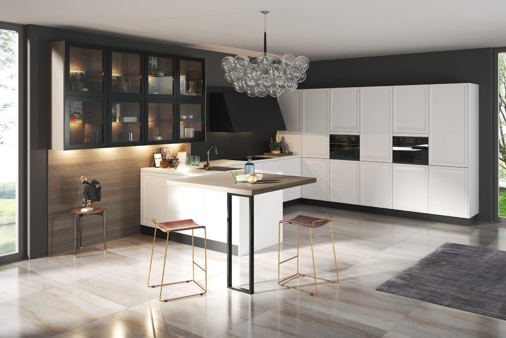 Rotpunk Modern Shaker White - John Willox Kitchen Design, Ellon