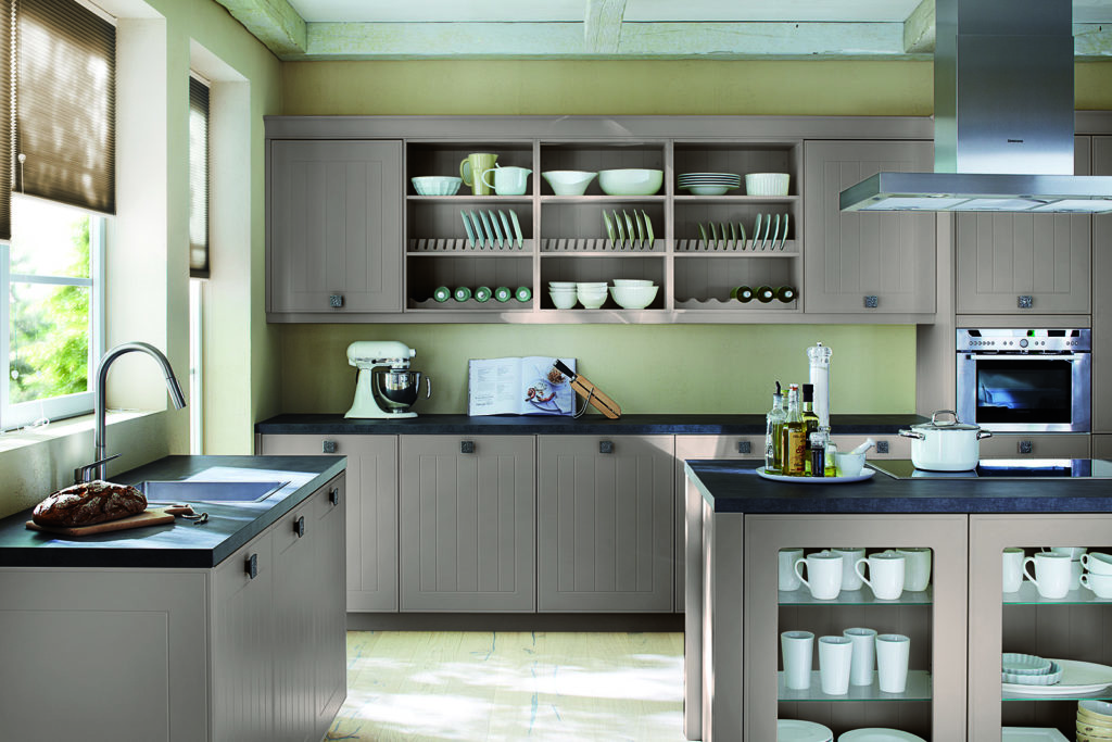 Rotpunkt Shaker Matt Cashmere Island Kitchen - John Willox Kitchen Design, Ellon