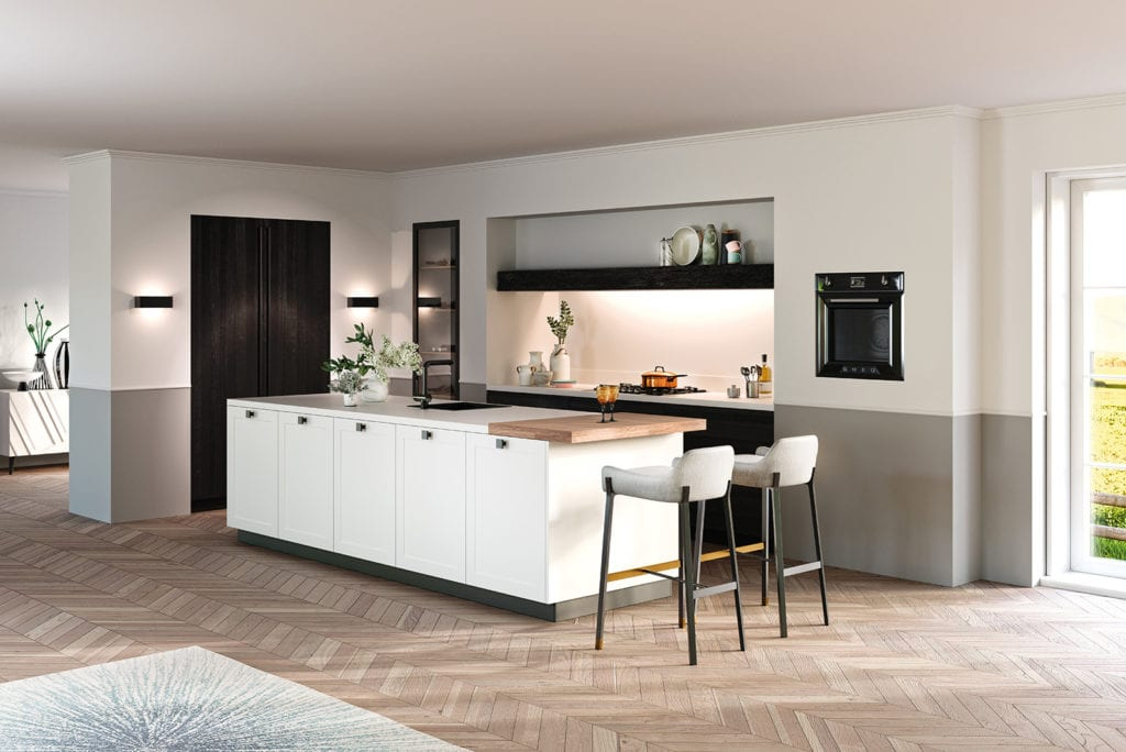 Rotpunkt Shaker White Kitchen 1 - John Willox Kitchen Design, Ellon