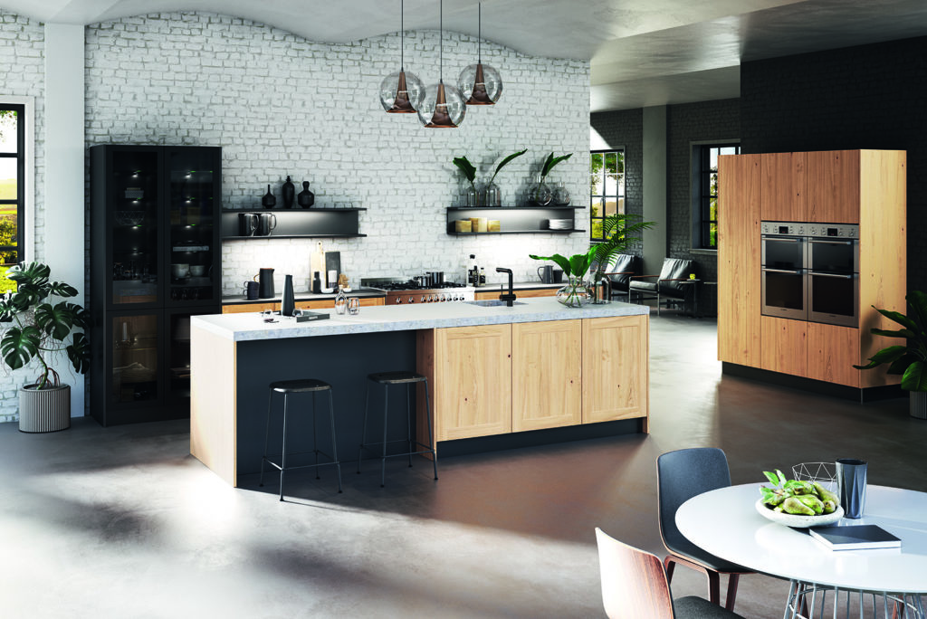 Rotpunkt Shaker Wood City Nature Oak - John Willox Kitchen Design, Ellon