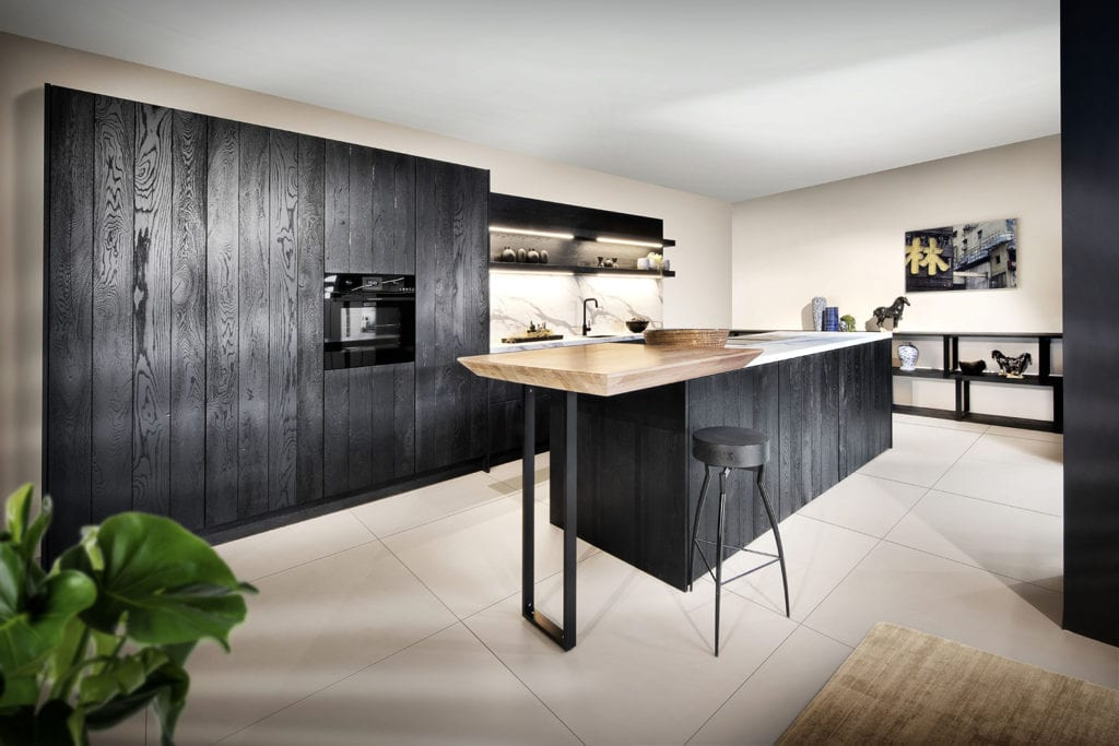 Rotpunkt Vertical Wide Board Black Oak | John Willox Kitchen Design
