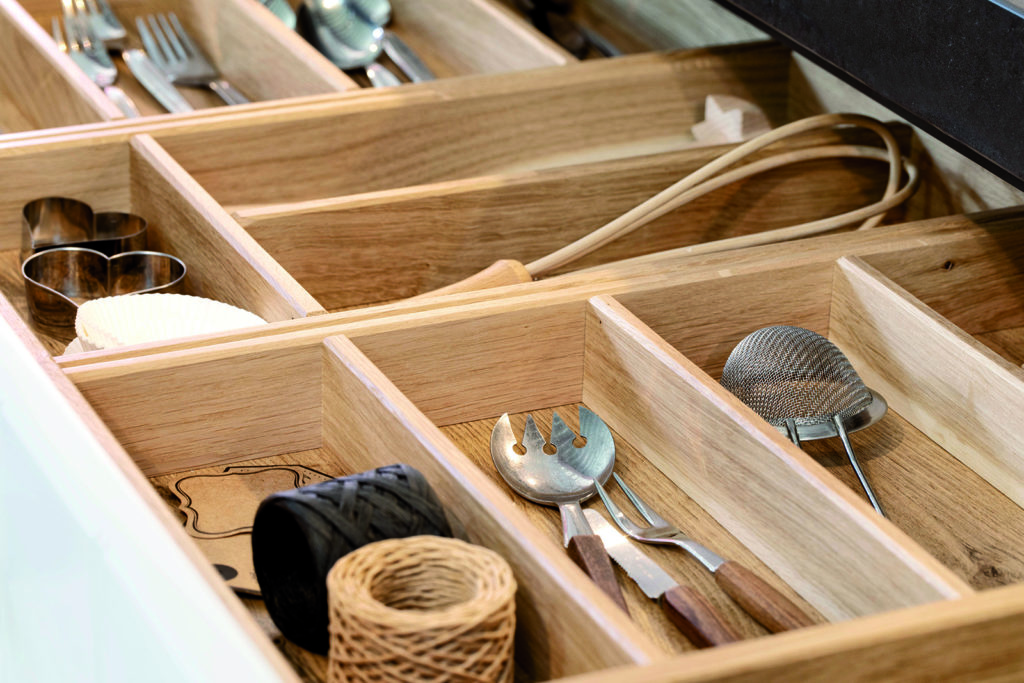 Forest Oak Cutlery Tray - Kitchen Revolutions, South London