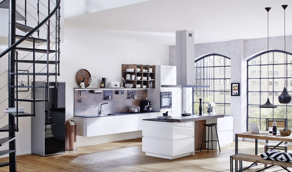 Rotpunkt White Gloss Handleless Kitchen