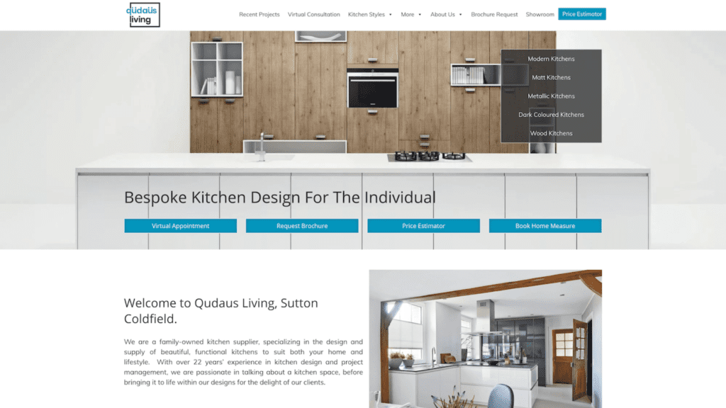 Website Homescreen | Qudaus Living