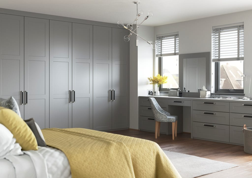 Bed Shaker Grey | Qudaus Living | Modern Kitchens Sutton Coldfield