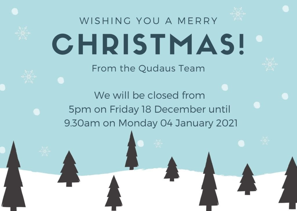 Christmas Opening Times 2020 | Qudaus Living | Modern Kitchens Sutton Coldfield