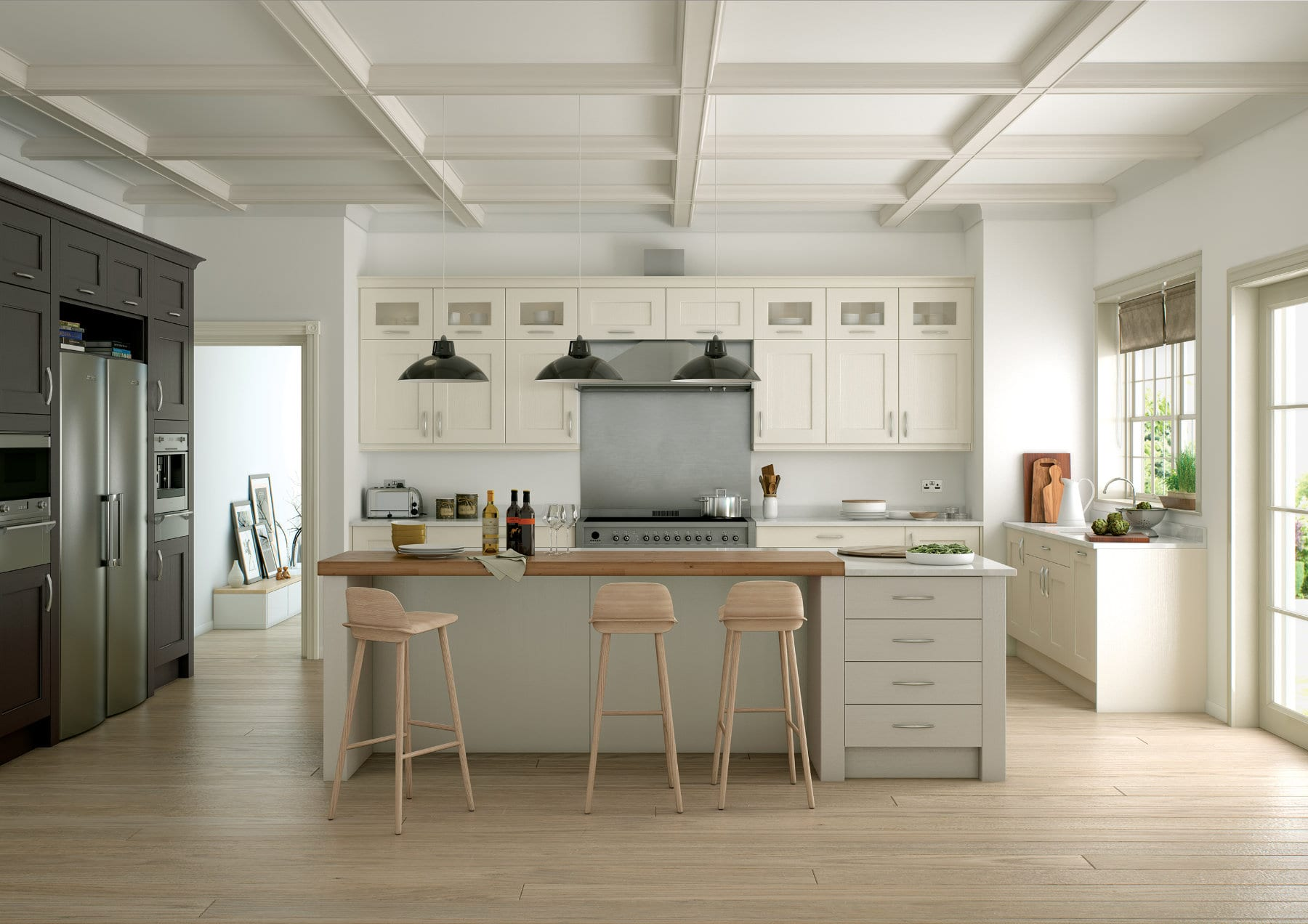 Wakefield Ivory Stone And Lava Main Shoot Rgb | Qudaus Living | Modern Kitchens Sutton Coldfield