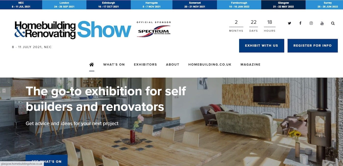 Join Us At The Homebuilding &Amp; Renovating Show In July | Qudaus Living