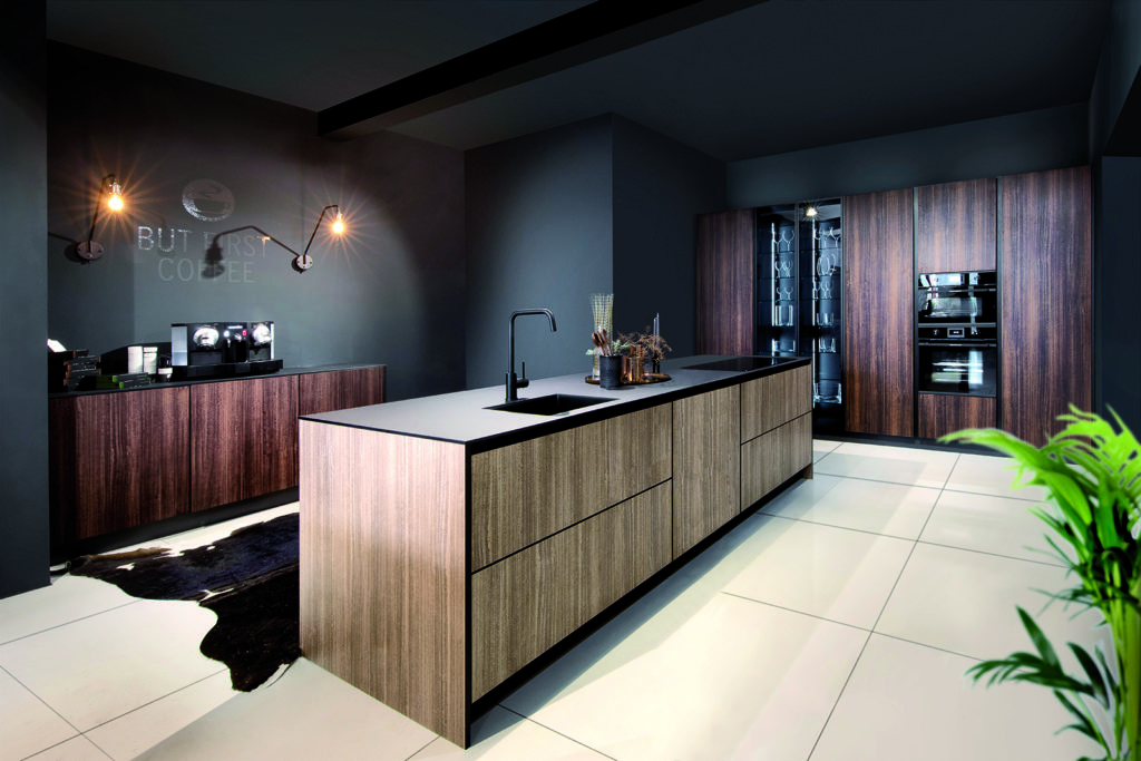 Rotpunkt Wood Mocha and Caramel Island Kitchen | Net Kitchens Direct