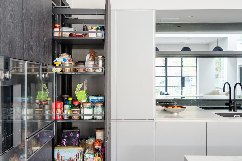 Tall Pull out Larder - Net Kitchens Direct, Walthamstow