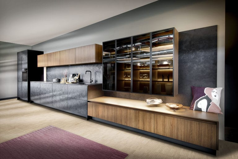 Rotpunkt Dark stone + City Brown Oak