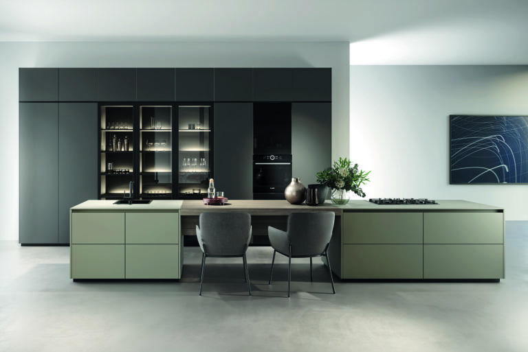 Rotpunkt Matt Lava and Umbria Handleless Kitchen 1 - The Design Yard, Dublin