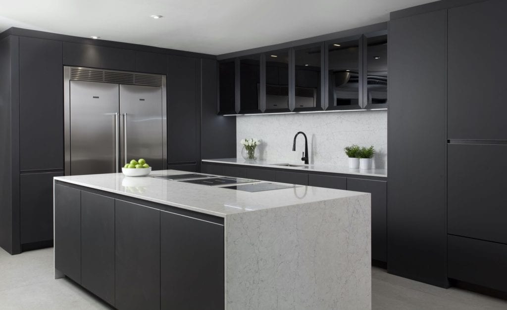 Grey contemporay Dublin kitchen