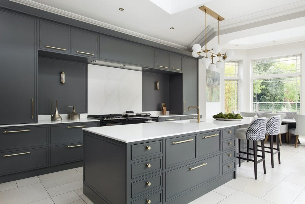 Grey Dublin hand painted kitchen Design Yard