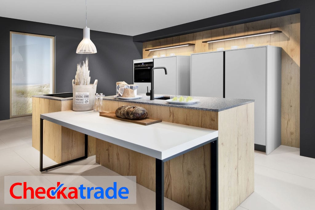 Rotpunkt Split Oak and Matt Cashmere Kitchen 3 1024x683 check a trade - Swans Of Gravesend