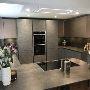 Stone Veneer Handleless Kitchen