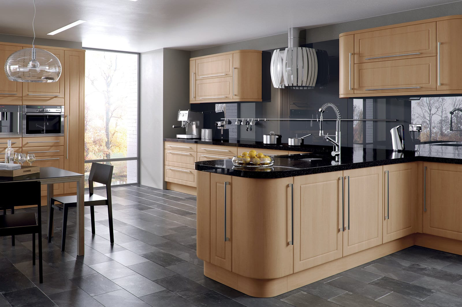 Blossom Avenue Canadian Maple Ashford Kitchen | Right Choice Kitchens, South Wales