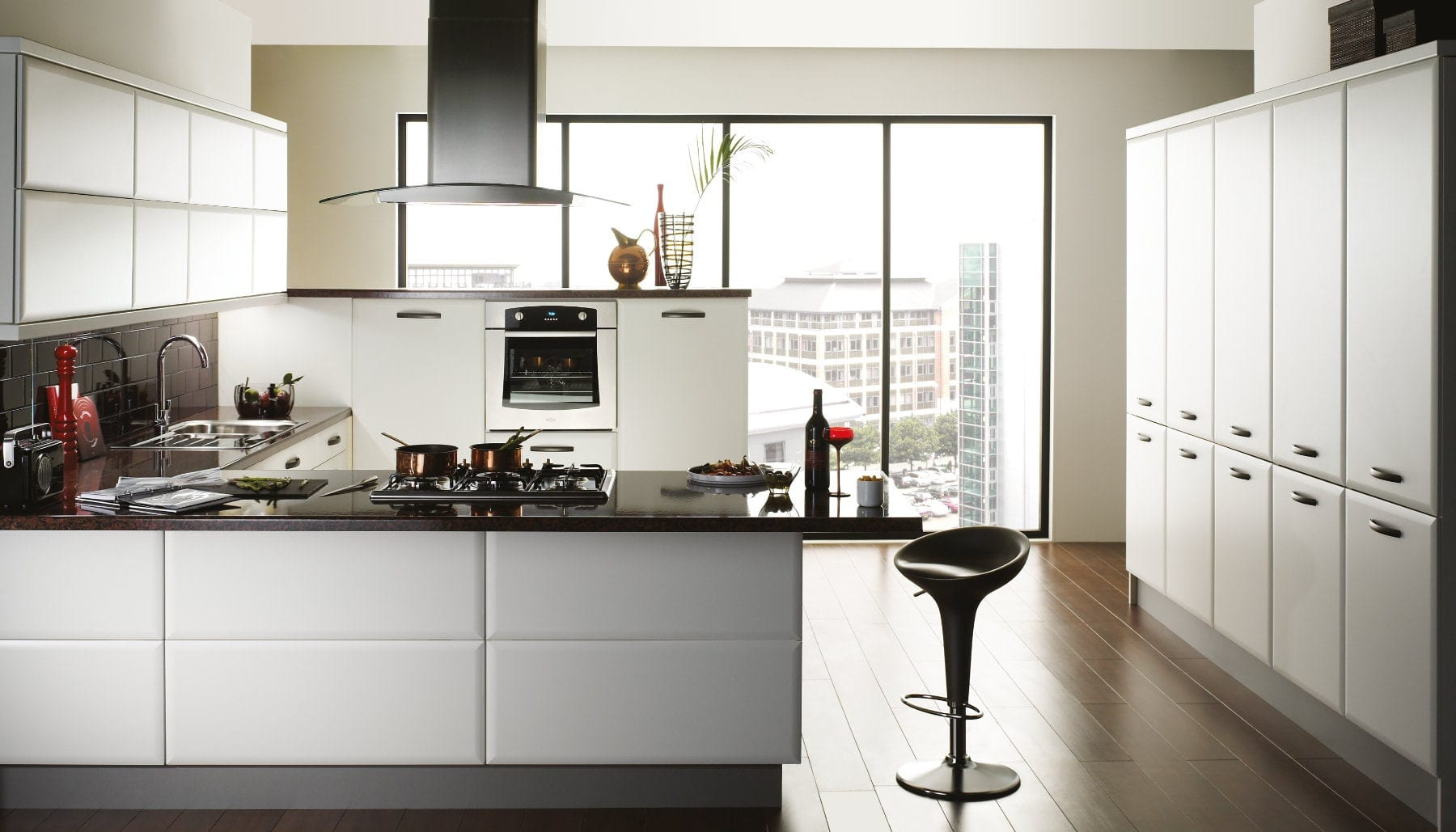 Jjo Cologne Smooth White U-Shaped Kitchen   Right Choice Kitchens, South Wales