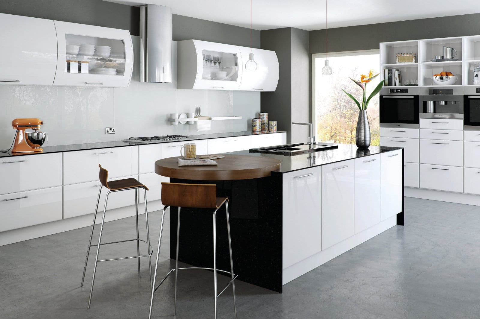 Blossom Avenue High Gloss White Lincoln Kitchen With Island | Right Choice Kitchens, South Wales