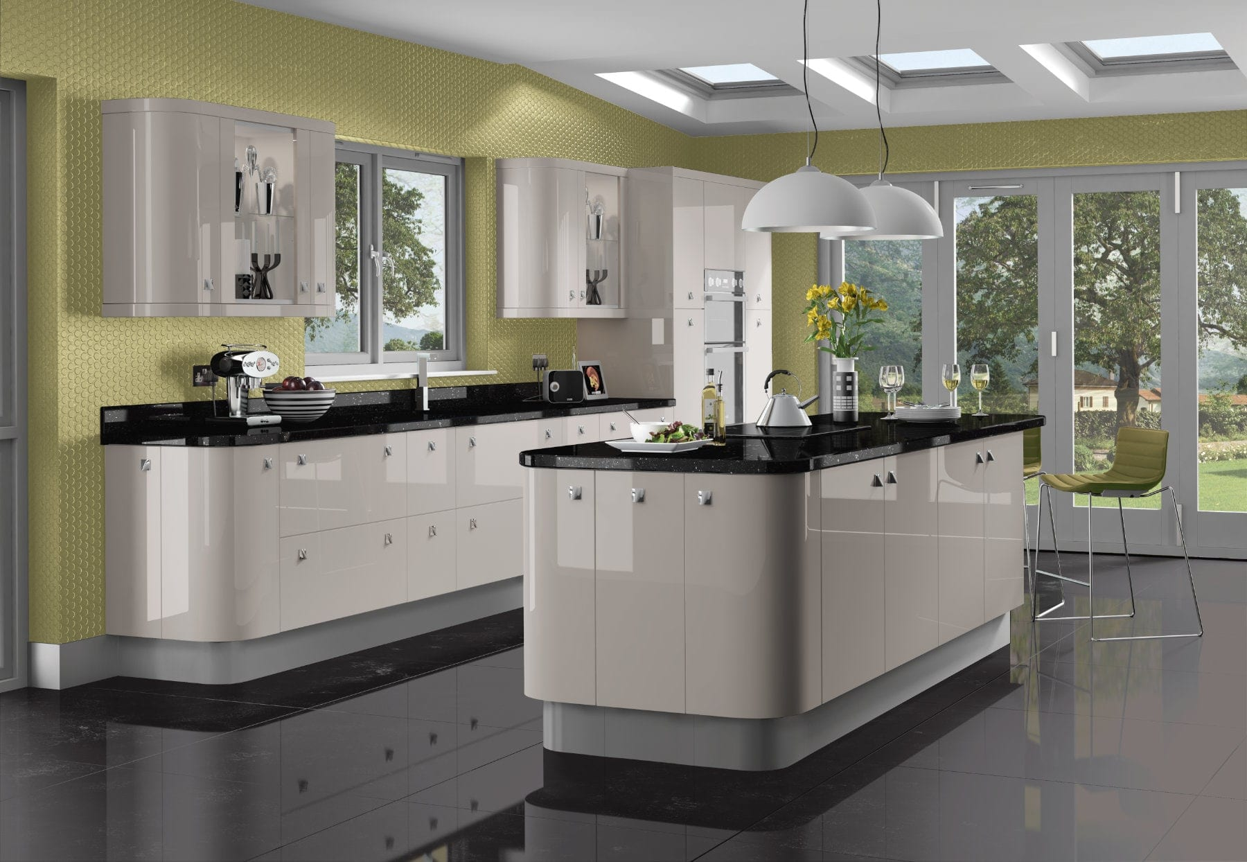 Jjo Kashmir Open Plan Kitchen With Island | Right Choice Kitchens, South Wales