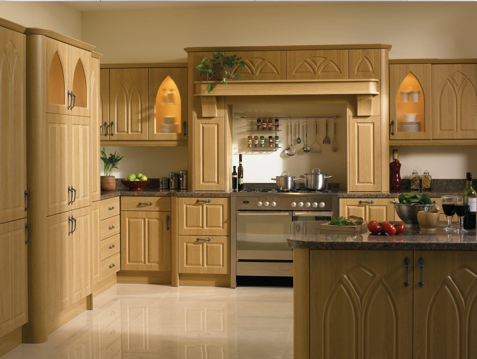 Blossom Avenue Lissa Oak Gothic L-Shaped Kitchen | Right Choice Kitchens, South Wales
