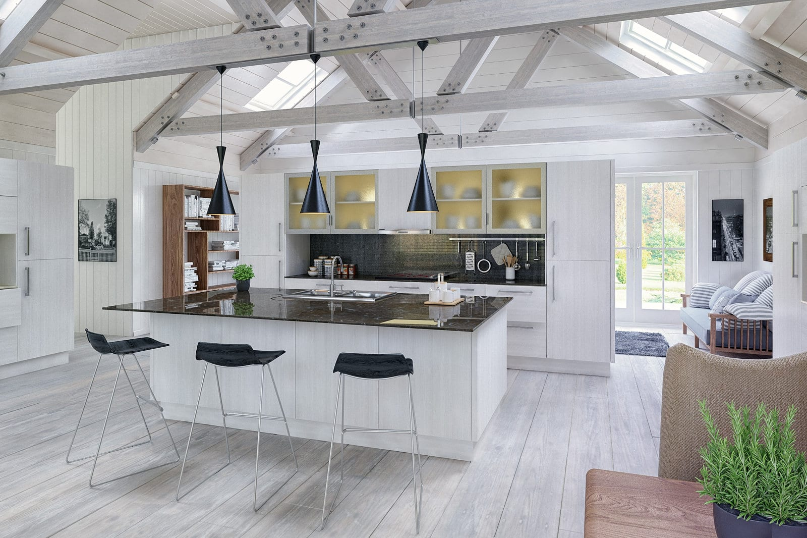 Blossom Avenue Opengrain White Venice Open Plan Kitchen With Island | Right Choice Kitchens, South Wales