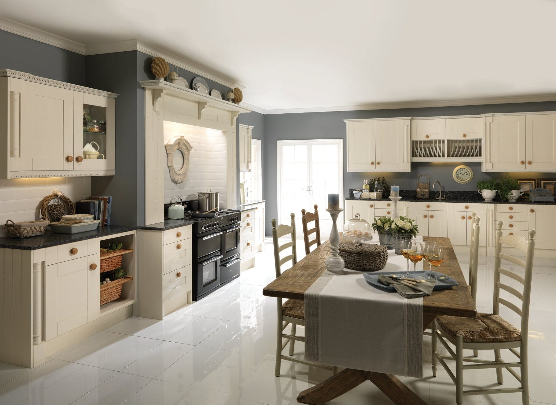 Jjo Pendle Oyster Open Plan Kitchen | Right Choice Kitchens, South Wales