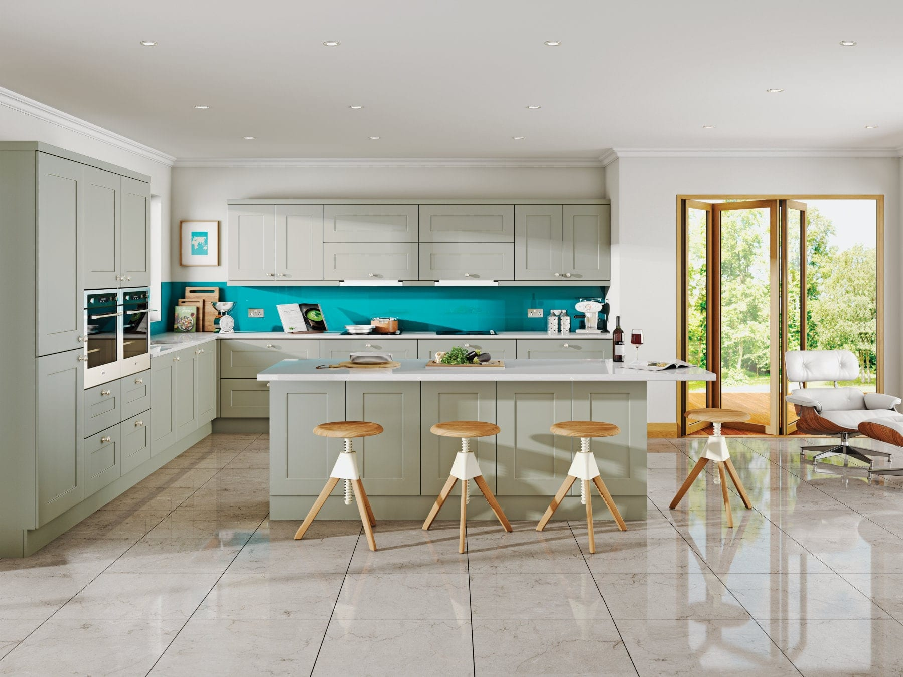 Jjo Solent Dakar L-Shaped Open Plan Kitchen With Island   Right Choice Kitchens, South Wales