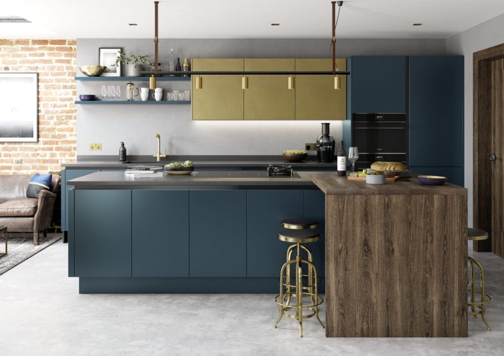 Alku Modern Handleless Kitchen With Island | Right Choice Kitchens, South Wales