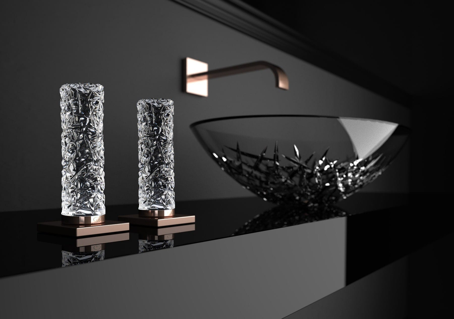 Ice Column Handles With Ice Oval Basin | Such Designs, London