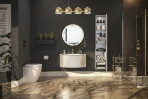 Dark Bathroom Tile | Such Designs, London