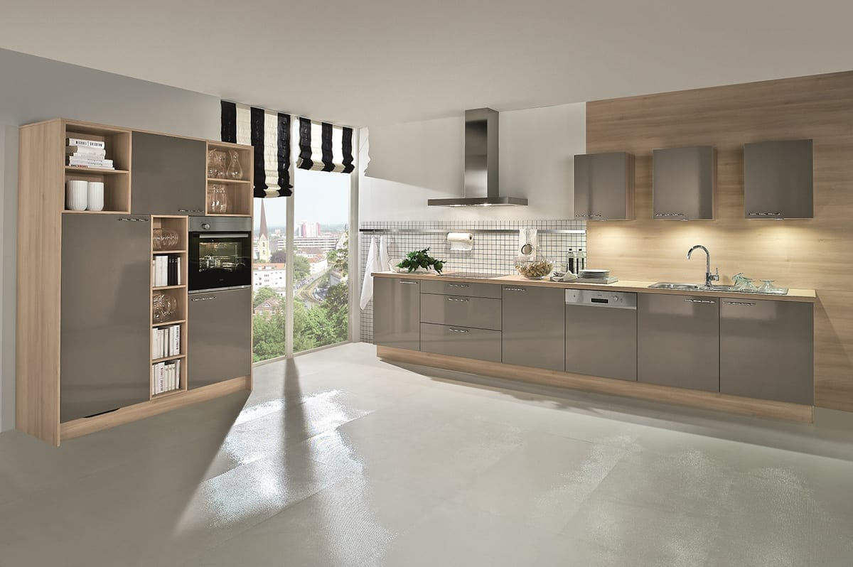 3. Basalt Grey high gloss kitchen in laminate finish 1200 - John Willox Kitchen Design, Ellon