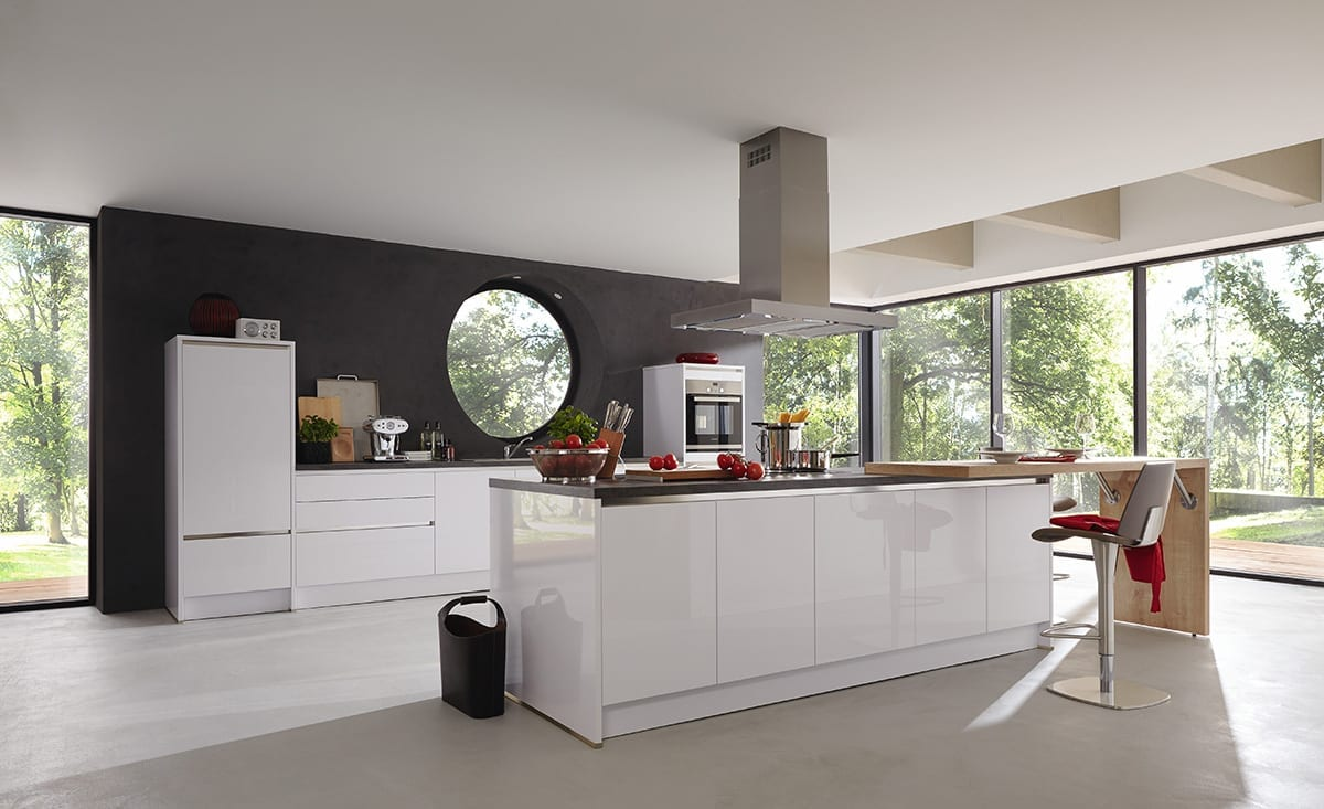 1.Polar white gloss lacquer laminate kitchen Copy 1200 - John Willox Kitchen Design, Ellon