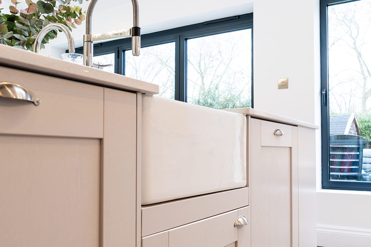Shaker kitchen with Butler sink | Classique Kitchens, Carlisle