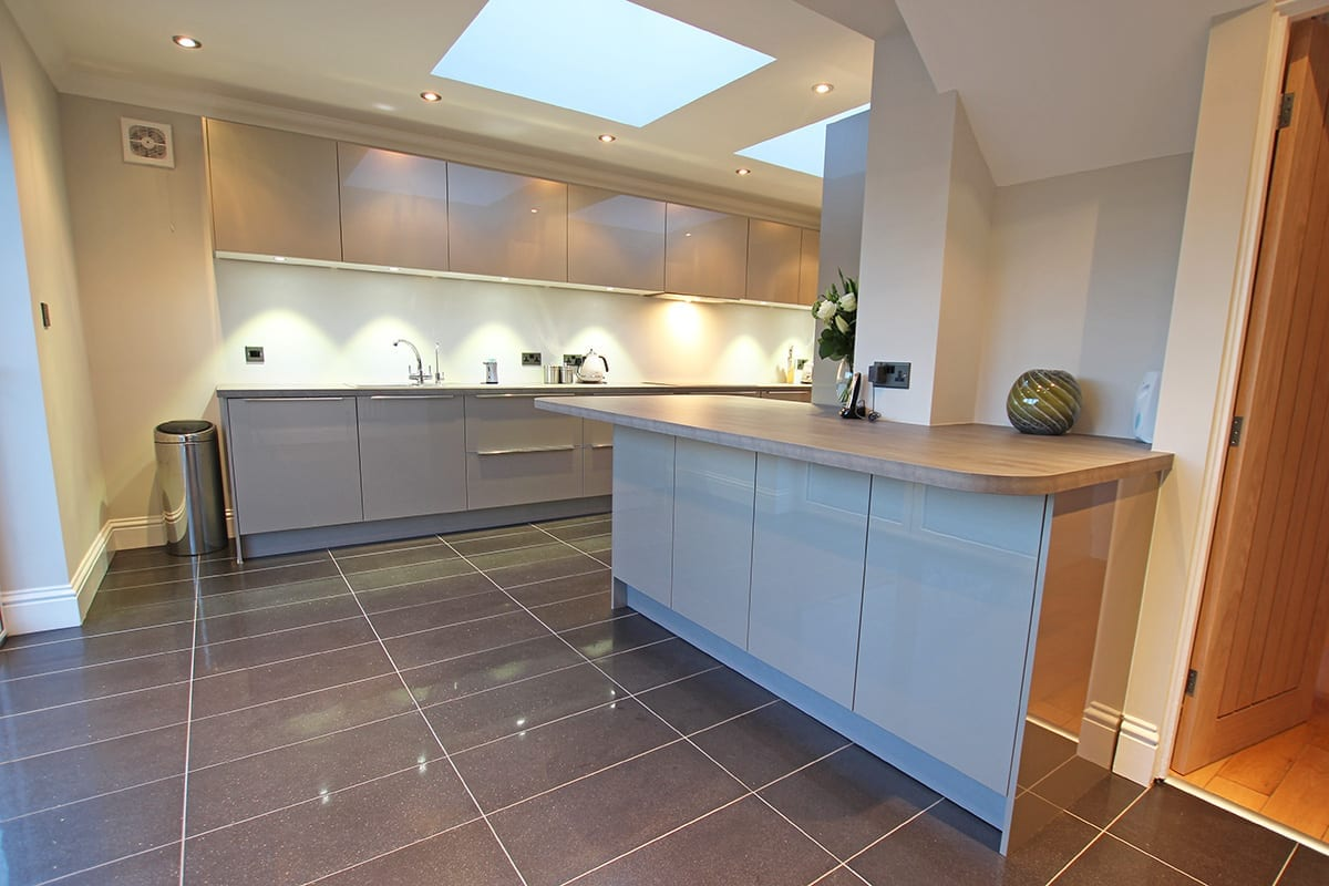 Luxury Laminate Worktop With Curves | Classique Kitchens, Carlisle