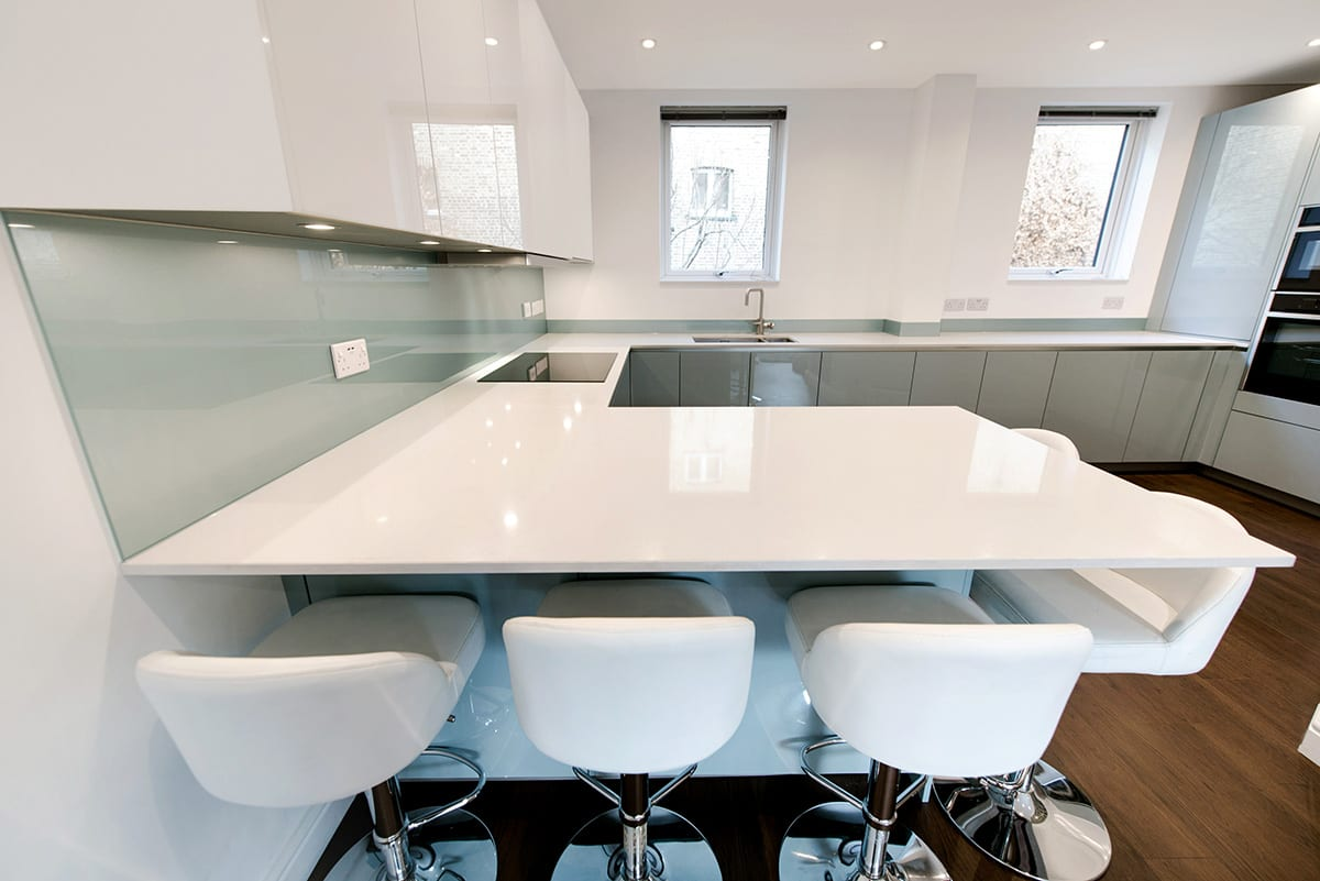 White Quartz Worktop 2 | Classique Kitchens, Carlisle