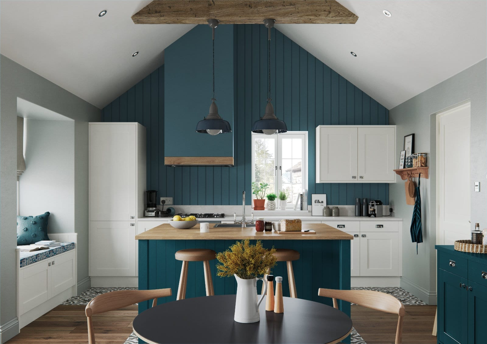 Alku Compact Shaker Kitchen With Island 1 1 | Unique Bedrooms Direct | Dunstable