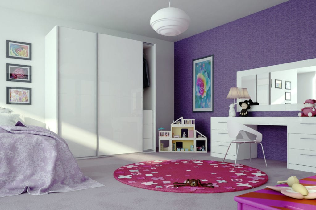 Complete Sliding Zurfiz Door Ug White | Unique Bedrooms Direct | Dunstable
