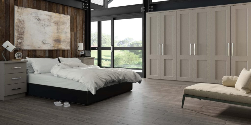 Bedroom Goscote Warsaw Stonegrey | Unique Bedrooms Direct | Dunstable