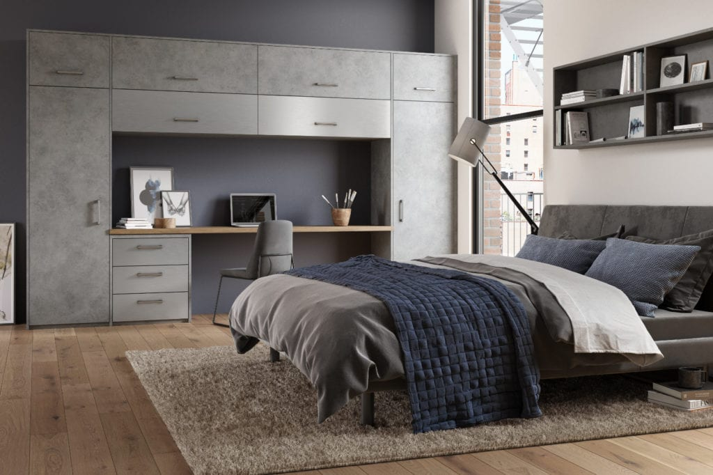 Zurfiz Magma Steel Brushed Metal Stainless Steel | Unique Bedrooms Direct | Dunstable