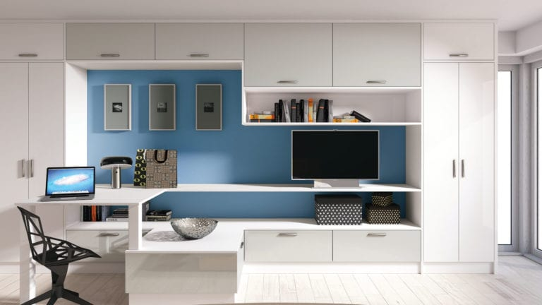Zurfiz Ug Light Grey Ug White Home Office | Unique Bedrooms Direct | Dunstable
