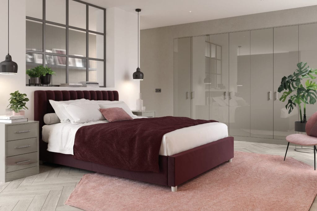 Zurfiz Ultragloss Stone Grey Bedroom | Unique Bedrooms Direct | Dunstable