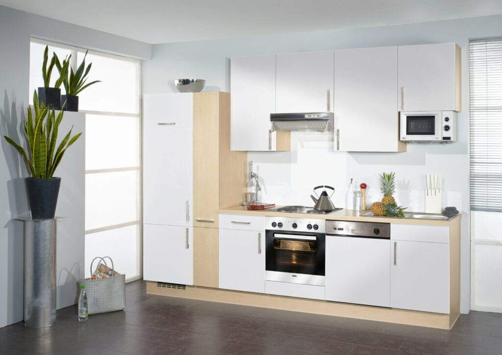 Bauformat Berger White Compact Kitchen | Alpha Designs, Preston