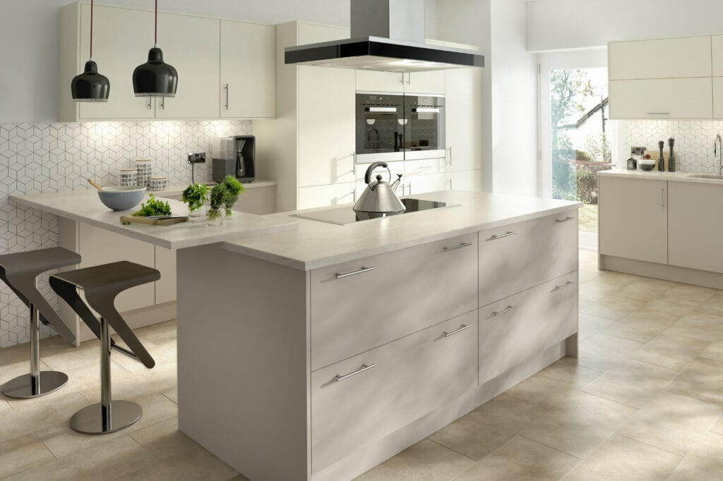 Chic Cashmere And Ivory | Inova Kitchens, Luton
