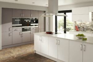 Chic White And Truffle | Inova Kitchens, Luton