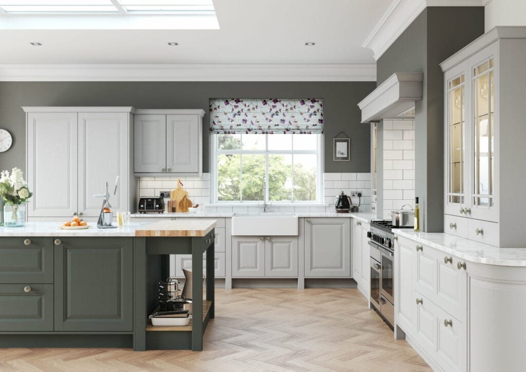 Daval Amberley Dove Grey Shaker Country Kitchen | Daval Furniture, Huddersfield