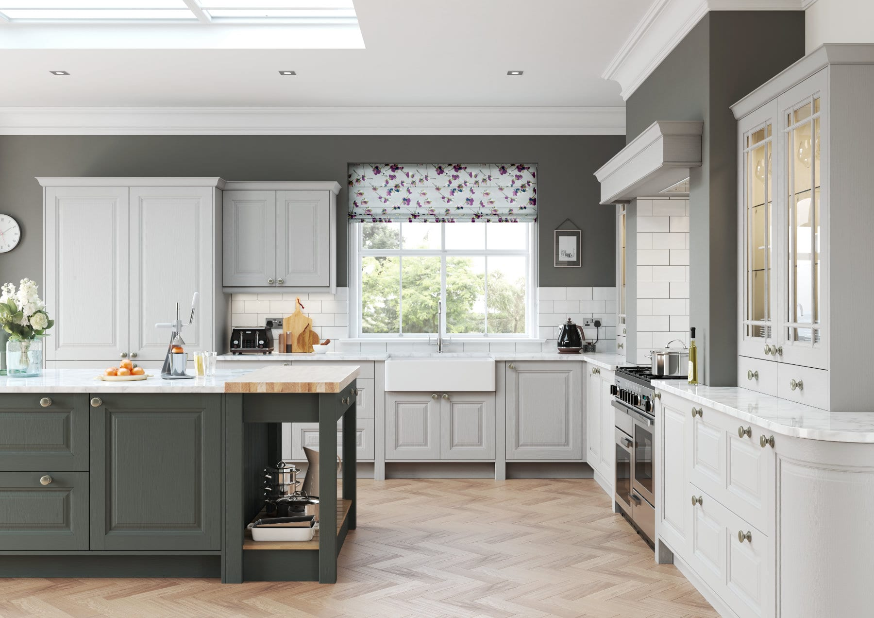 Daval Amberley Dove Grey Shaker Country Kitchen   Daval Furniture, Huddersfield