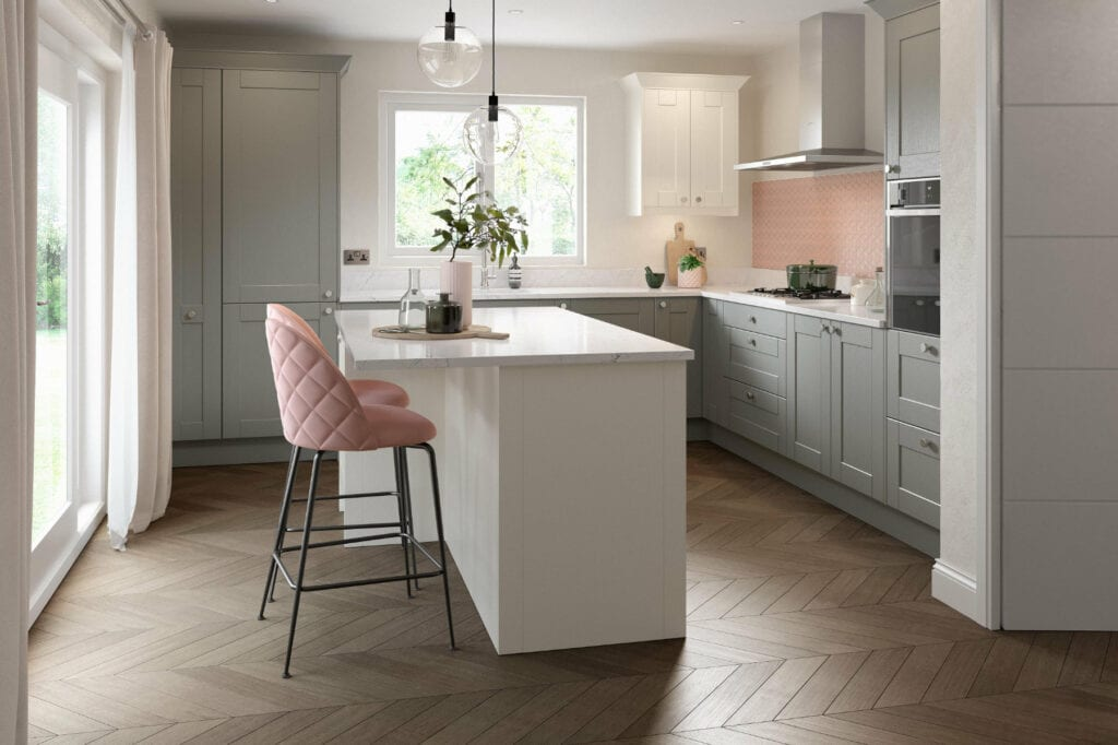 Daval Meltham Dust Grey Compact Shaker Kitchen | Daval Furniture, Huddersfield