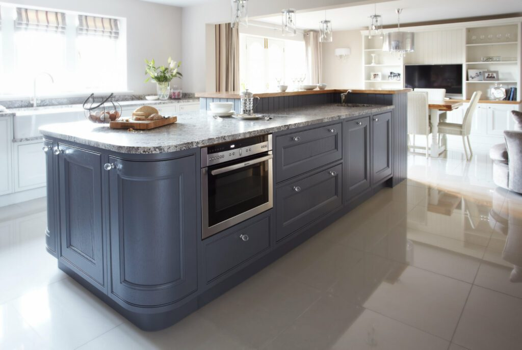 Daval Blue InFrame Fitted Kitchen Furniture Huddersfield